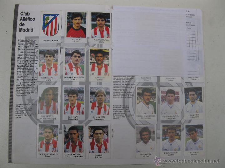 Coleccionismo deportivo: ÁLBUM DE CROMOS - LIGA FÚTBOL 91-92 - BIMBO. - Foto 7 - 51959835