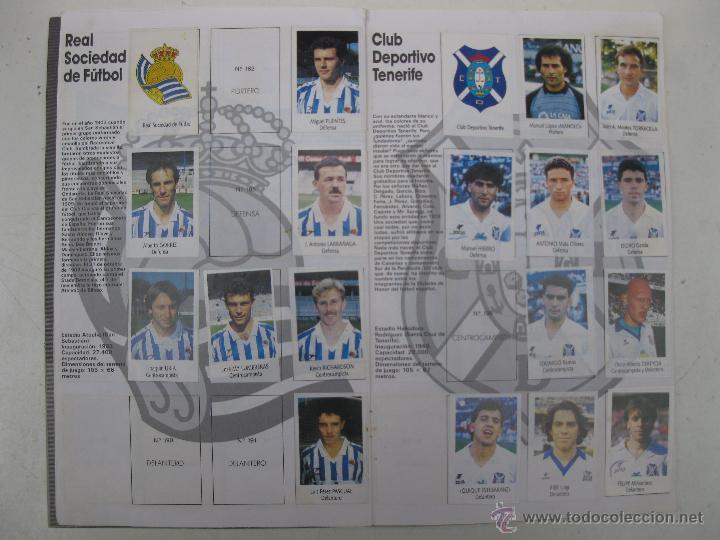 Coleccionismo deportivo: ÁLBUM DE CROMOS - LIGA FÚTBOL 91-92 - BIMBO. - Foto 11 - 51959835