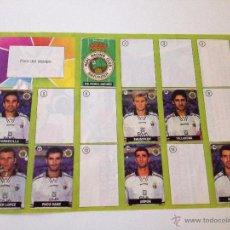 Coleccionismo deportivo: ALBUM DEL CHICLE LA LIGA DE LA ESTRELLAS 1996 1997 96 97 RACING DE SANTANDER. Lote 52134362