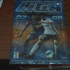 Coleccionismo deportivo: ÁLBUM DE EDICIONES ESTE 2007/2008 COMPLETO UN CROMO POR CASILLA, CON FICHAJES, COLOCAS. Lote 52278605