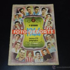 Coleccionismo deportivo: ALBUM FOTO-DEPORTE 1944 1 DIVISION, CONTIENE 229 CROMOS, ALGUNOS COLOCAS, EDT BRUGUERA. Lote 52539278