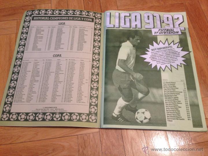 Coleccionismo deportivo: RP ALBUM LIGA ESTE 91 92 1991 1992 COMPLETAMENTE VACIO VER FOTOS UNICO EN TODOCOLECCION!!!!! - Foto 2 - 68150163