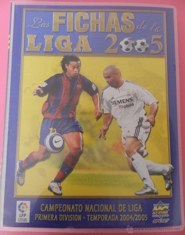 COLECCION LAS FICHAS DE LA LIGA MUNDICROMO 2004/2005 LOTE 500 FICHAS MC 04/05 + ARCHIVADOR ORIGINAL (Coleccionismo Deportivo - Álbumes y Cromos de Deportes - Álbumes de Fútbol Incompletos)