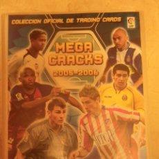 Coleccionismo deportivo: ALBUM MEGA CRACKS 2005-2006 TRADING CARDS, CON 128 CARDS. Lote 52641424
