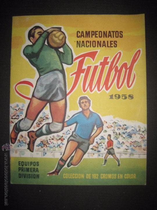 CAMPEONATOS NACIONALES FUTBOL 1958 - RUIZ ROMERO - ALBUM VACIO Y EN MUY BUEN ESTADO (Coleccionismo Deportivo - Álbumes y Cromos de Deportes - Álbumes de Fútbol Incompletos)