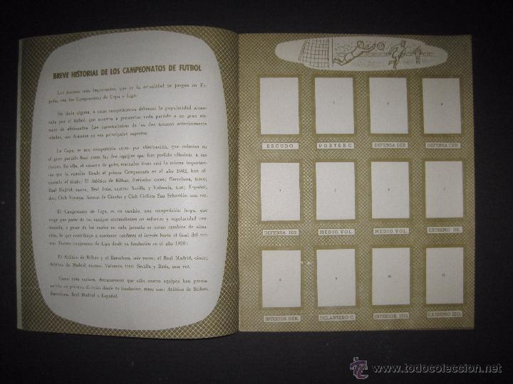 Coleccionismo deportivo: CAMPEONATOS NACIONALES FUTBOL 1958 - RUIZ ROMERO - ALBUM VACIO Y EN MUY BUEN ESTADO - Foto 2 - 52864579