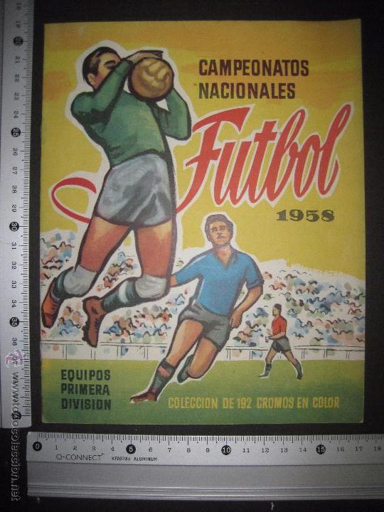 Coleccionismo deportivo: CAMPEONATOS NACIONALES FUTBOL 1958 - RUIZ ROMERO - ALBUM VACIO Y EN MUY BUEN ESTADO - Foto 5 - 52864579