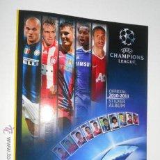 Coleccionismo deportivo: ALBUM VACIO PLANCHA CROMOS UEFA CHAMPIONS LEAGUE FUTBOL 2010 2011 10 11 PANINI. Lote 120712202