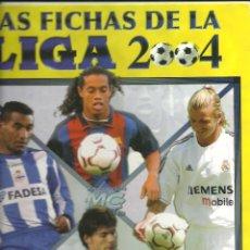 Coleccionismo deportivo: ALBUM - ARCHIVADOR LAS FICHAS DE LA LIGA 2004 04 // CONTIENE 668 TRADING CARDS // EN PERFECTO ESTADO. Lote 53124189