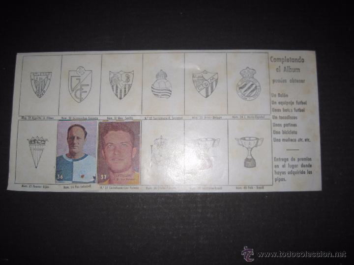 Coleccionismo deportivo: FIGURAS DEL DEPORTE - FUTBOL - PIPAS - INCOMPLETO - VER FOTOS - (ZC- 32) - Foto 4 - 53188976