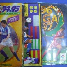 Coleccionismo deportivo: LOTE - CUATRO ÁLBUMES DE LA LIGA DE FÚTBOL - ( 94/95 - 95/96 - 96/97 - 2013-2014 ). Lote 53504369
