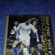 Coleccionismo deportivo: ÁLBUM DE CROMOS PANINI, LAS MEGAFICHAS DE LA LIGA 2002 - 2003. TIENE 135 CROMOS.. Lote 53582106