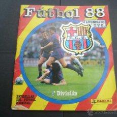Coleccionismo deportivo: FÚTBOL 88 - PANINI - ALBUM CON 403 CROMOS ( SOLO FALTAN 6 PARA ESTAR COMPLETA ). Lote 53601593