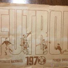 Coleccionismo deportivo: FUTBOL CAMPEONATOS NACIONALES 1970 RUIZ ROMERO. Lote 53606700