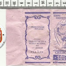 Coleccionismo deportivo: 10.155 SOBRE ABIERTO, ESCUDO DE CHAPA, ATLETICO DE MADRID, BARCELONA,TEMPORADA 1971-72. Lote 53861480
