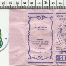 Coleccionismo deportivo: 10.158 SOBRE ABIERTO, ESCUDO DE CHAPA, ATLETICO DE MADRID, U.D. LAS PALMAS,TEMPORADA 1971-72 . Lote 53861608