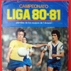 Coleccionismo deportivo: ALBUM FUTBOL, LIGA 1980 1981 , 80 81 , COMPLETO , EDICIONES ESTE ,A FALTA DE FICHAJES, ORIGINAL , FF. Lote 53999989