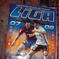 Coleccionismo deportivo: ALBUM LIGA 2007 2008 CON 570 CROMOS. Lote 54044250