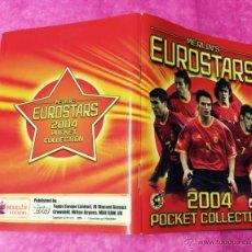 Coleccionismo deportivo: ÁLBUM EUROSTARS 2004 - POCKET COLLECTION - EUROCOPA DE FÚTBOL PORTUGAL 2004 - CROMOS CHICLE. Lote 54105827