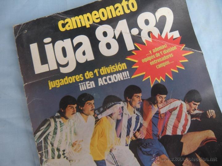 ALBUM FUTBOL CAMPEONATO LIGA 81-82 (Coleccionismo Deportivo - Álbumes y Cromos de Deportes - Álbumes de Fútbol Incompletos)