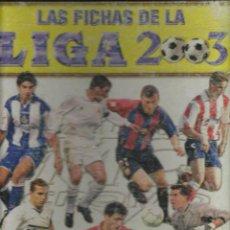 Coleccionismo deportivo: ALBUM DE LAS FICHAS DE LA LIGA 2003 CON 630 FICHAS COMPLETO. Lote 54483387