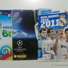 Coleccionismo deportivo: ALBUMES PLANCHA REAL MADRID 2010 - 11 + UEFA 2008 - 09 + MUNDIAL 2014 PANINI. Lote 54530746