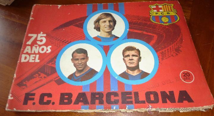 ALBUM CROMOS 75 AÑOS FUTBOL CLUB BARCELONA . BARÇA INCOMPLETO 141 CROMOS DE 271 . VER DESCRIPCION (Coleccionismo Deportivo - Álbumes y Cromos de Deportes - Álbumes de Fútbol Incompletos)