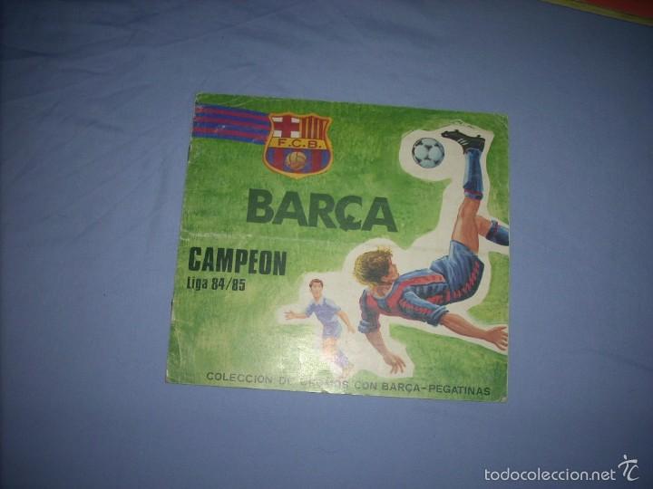 ALBUM DEL BARCA CAMPEON LIGA 84-85 , CASI COMPLETO Y CON MUCHOS DOBLES (Coleccionismo Deportivo - Álbumes y Cromos de Deportes - Álbumes de Fútbol Incompletos)