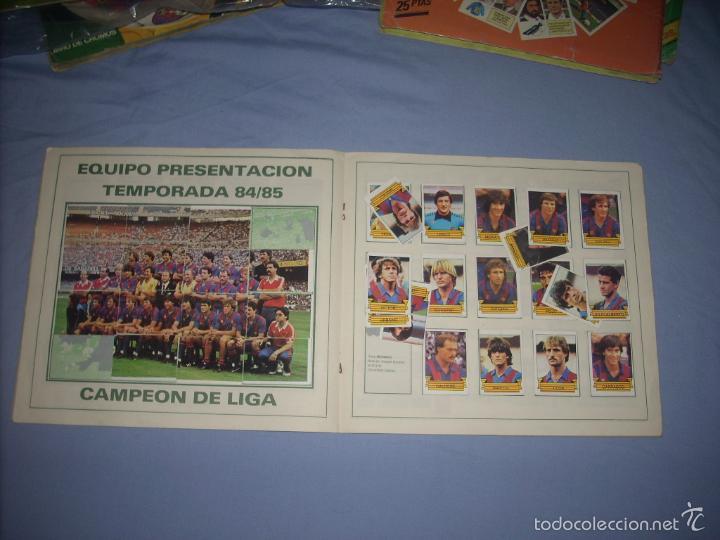 Coleccionismo deportivo: ALBUM DEL BARCA CAMPEON LIGA 84-85 , CASI COMPLETO Y CON MUCHOS DOBLES - Foto 4 - 55444451