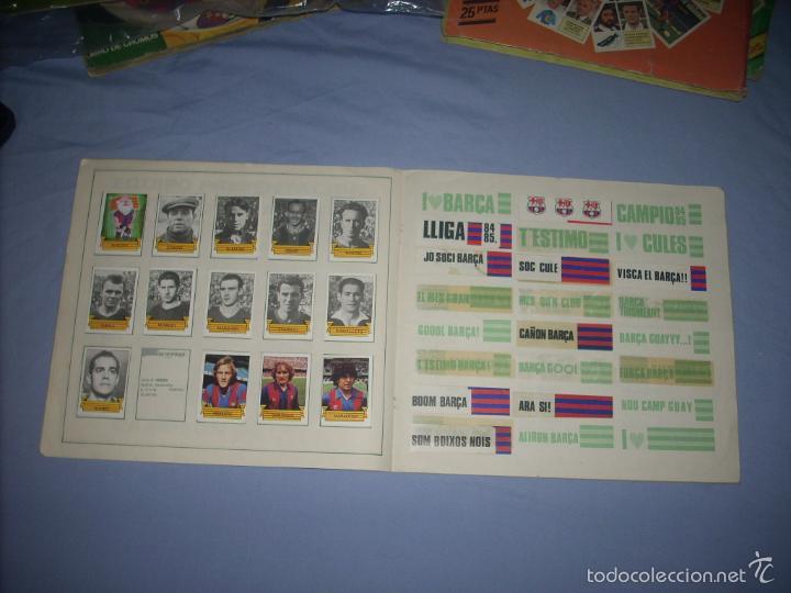 Coleccionismo deportivo: ALBUM DEL BARCA CAMPEON LIGA 84-85 , CASI COMPLETO Y CON MUCHOS DOBLES - Foto 6 - 55444451
