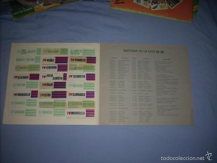 Coleccionismo deportivo: ALBUM DEL BARCA CAMPEON LIGA 84-85 , CASI COMPLETO Y CON MUCHOS DOBLES - Foto 7 - 55444451