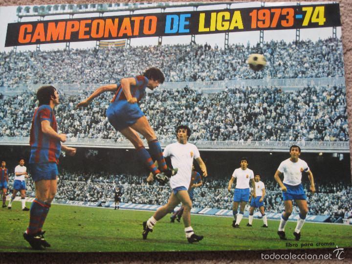 CAMPEONATO DE LIGA 1973-74- EDITORIAL FHER S.A. (Coleccionismo Deportivo - Álbumes y Cromos de Deportes - Álbumes de Fútbol Incompletos)