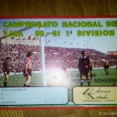 Coleccionismo deportivo: ALBUM CAMPEONATO NACIONAL DE LIGA 80 - 81 1ª DIVISION. EDICIONES ESTADIO. Lote 55731859