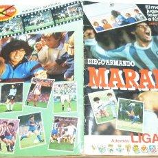 Coleccionismo deportivo: ALBUM MARADONA, SUS DRIBLINGS Y SUS GOLES + LIGA 1984-1985. CONTIENE 175 CROMOS. Lote 55932230