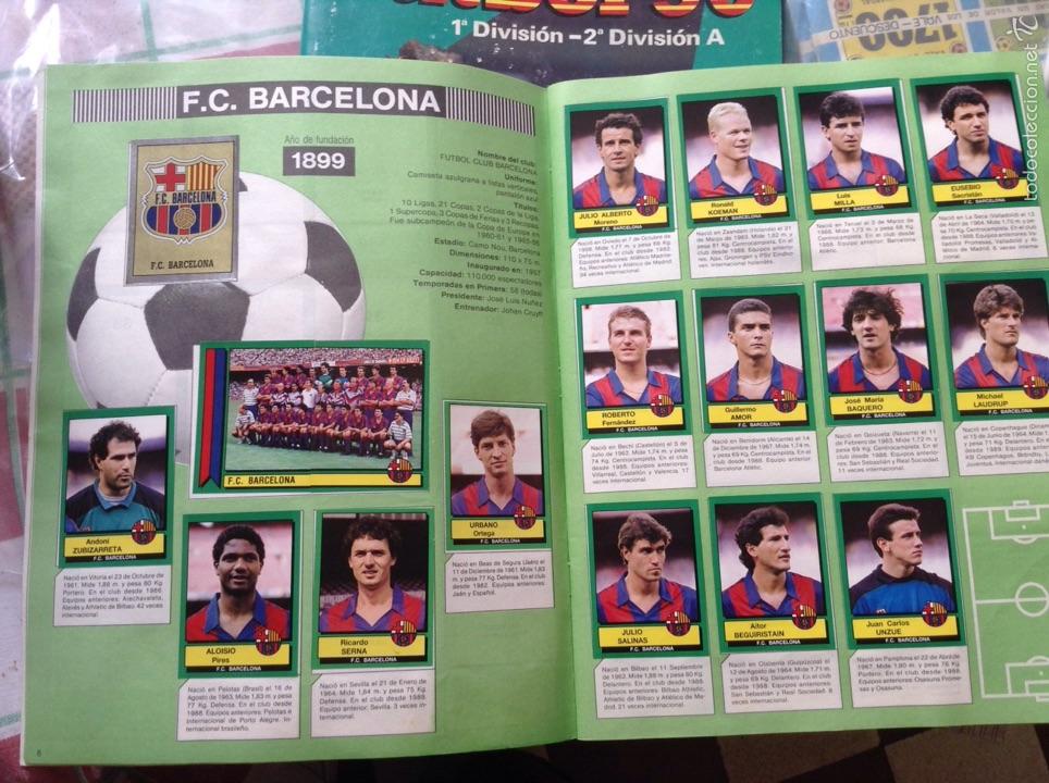 Coleccionismo deportivo: Álbum liga fútbol 89-90. J. Cruyff entrenador. Y regalo - Foto 4 - 56003729