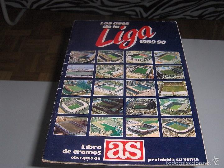 LOS ASES DE LA LIGA 1989 - 1990 FALTAN 7 CROMOS - AS (Coleccionismo Deportivo - Álbumes y Cromos de Deportes - Álbumes de Fútbol Incompletos)
