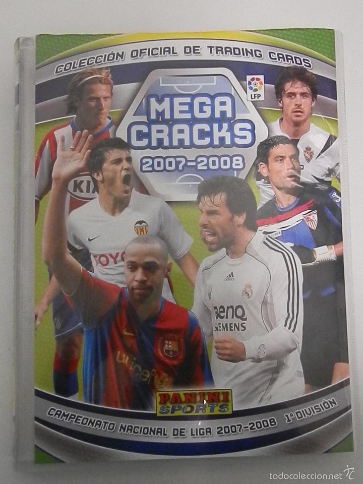ALBUM INCOMPLETOS- MEGA CRACKS-2007-2008-PANINI SPORTS (Coleccionismo Deportivo - Álbumes y Cromos de Deportes - Álbumes de Fútbol Incompletos)
