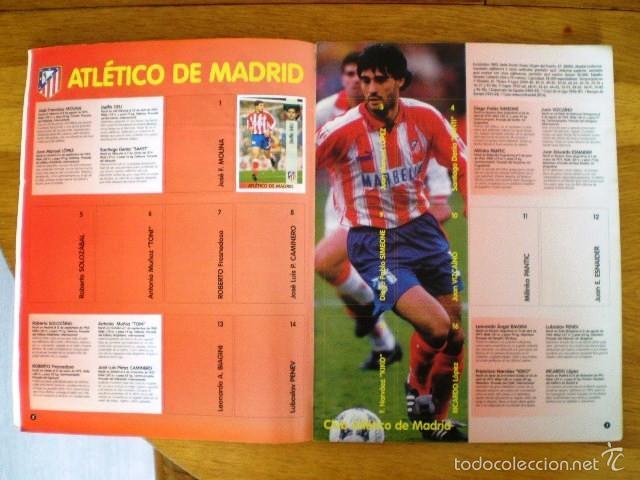 Coleccionismo deportivo: ÁLBUM LIGA Fútbol Profesional 96/97 (Panini, 1996) * Con 47 cromos, incluye póster - Foto 3 - 56299954