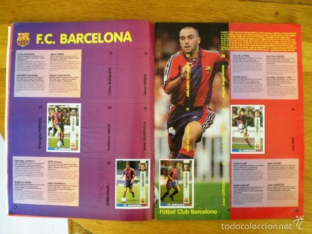 Coleccionismo deportivo: ÁLBUM LIGA Fútbol Profesional 96/97 (Panini, 1996) * Con 47 cromos, incluye póster - Foto 4 - 56299954
