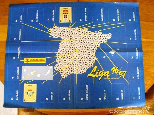 Coleccionismo deportivo: ÁLBUM LIGA Fútbol Profesional 96/97 (Panini, 1996) * Con 47 cromos, incluye póster - Foto 9 - 56299954