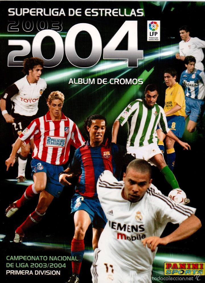 ALBUM SUPERLIGA 2003-2004 PANINI PLANCHA VACIO (Coleccionismo Deportivo - Álbumes y Cromos de Deportes - Álbumes de Fútbol Incompletos)