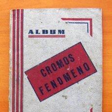 Coleccionismo deportivo: ALBUM CROMOS FENÓMENO - FÚTBOL, TOROS, CINE - AÑO 1944 - VER FOTOS Y EXPLICACIONES INTERIORES. Lote 56954712