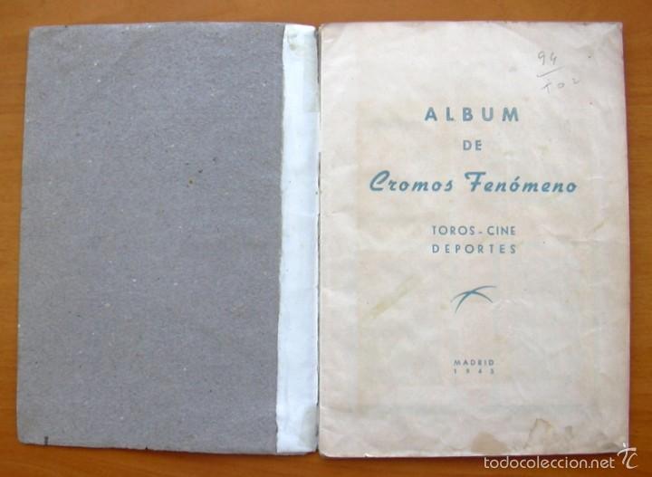 Coleccionismo deportivo: Album Cromos Fenómeno - Fútbol, Toros, Cine - año 1944 - Ver fotos y explicaciones interiores - Foto 2 - 56954712