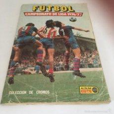 Coleccionismo deportivo: ÁLBUM CAMPEONATO DE LIGA 1976/77 -EDICIONES ESTE ( FALTAN 28 CROMOS ). Lote 57105391