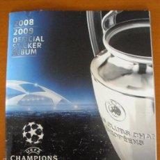 Coleccionismo deportivo: ALBUM DE CROMOS DE FÚTBOL UEFA CHAMPIONS LEAGUE 2008-09 DE PANINI VACIO. Lote 57119368