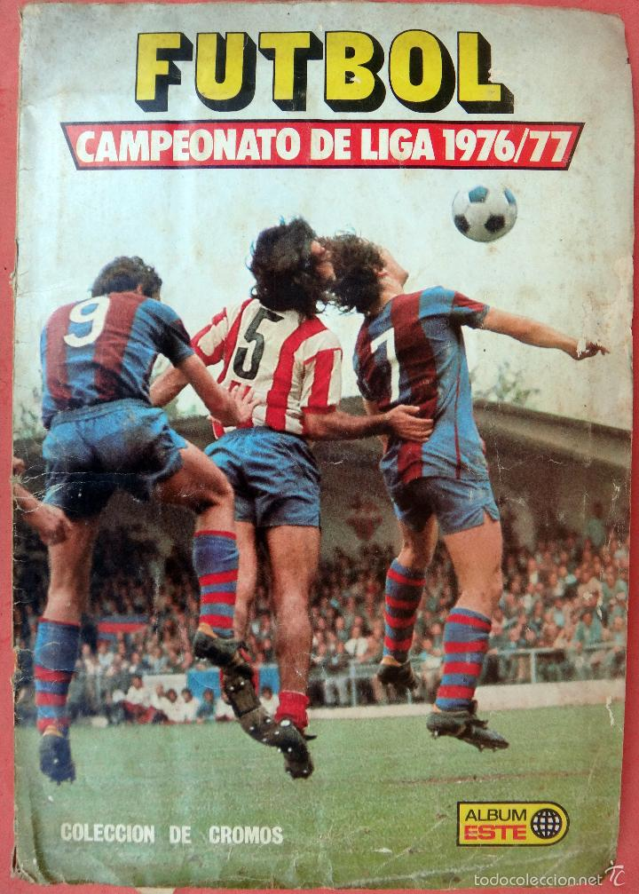ALBUM FUTBOL , LIGA 1976 1977 , 76 77 , EDICIONES ESTE, INCOMPLETO , VER FOTOS , ORIGINAL , K (Coleccionismo Deportivo - Álbumes y Cromos de Deportes - Álbumes de Fútbol Incompletos)