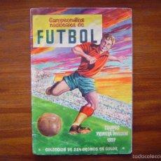 Coleccionismo deportivo: ALBUM CAMPEONATOS NACIONALES DE FUTBOL 1957 - RUIZ ROMERO - EQUIPOS DE PRIMERA DIVISION - VACIO. Lote 57690029