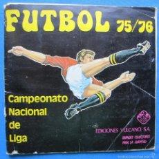 Coleccionismo deportivo: ÁLBUM INCOMPLETO FÚTBOL 75/76. CAMPEONATO NACIONAL DE LIGA. EDICIONES VULCANO, BILBAO, 1975.. Lote 57744557