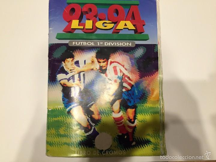 ALBUM DE CROMOS EDICIONES ESTE LIGA TEMPORADA 1993 1994 93 94 CON CROMOS DE CARTÓN (Coleccionismo Deportivo - Álbumes y Cromos de Deportes - Álbumes de Fútbol Incompletos)