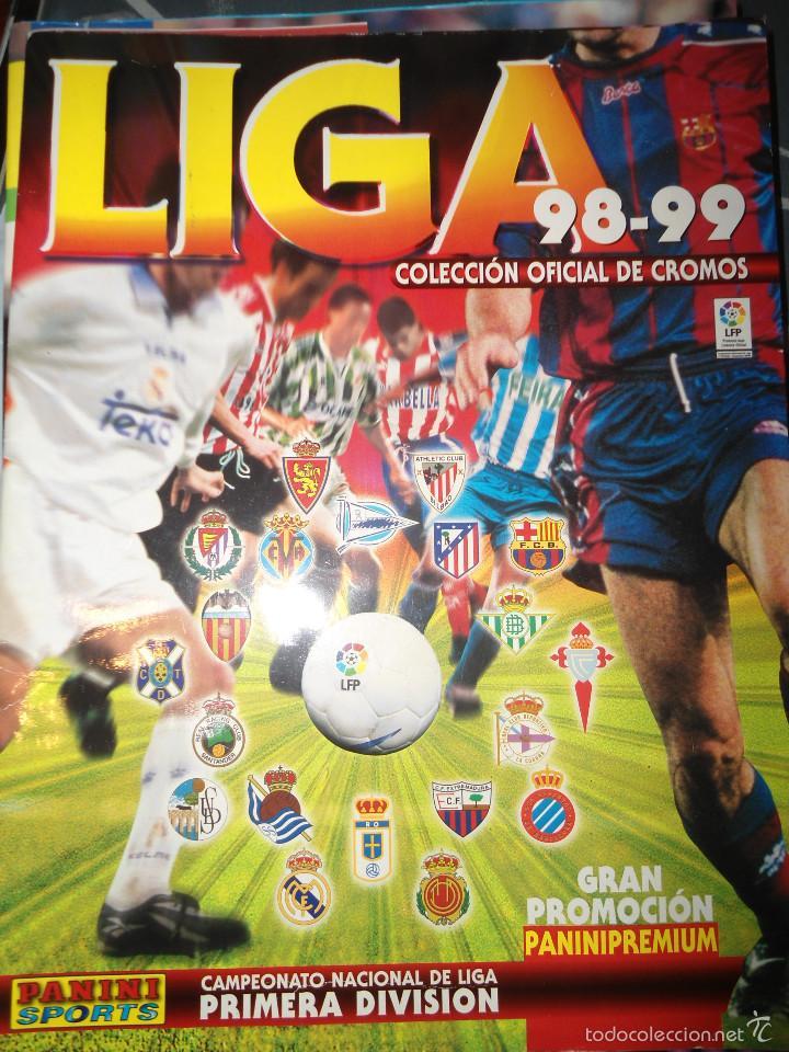 ALBUM CROMOS FUTBOL LIGA 98 99 - PANINI (Coleccionismo Deportivo - Álbumes y Cromos de Deportes - Álbumes de Fútbol Incompletos)